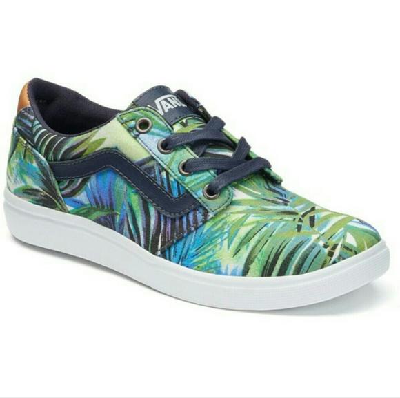 c4b694746bb VANS Palm Leaf Print sz 7.5 Chapman Skate Shoes